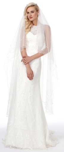 A Line Tank Top Chapel Train Lace Wedding Dress Alb12287