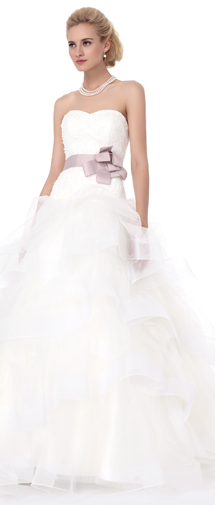 Ball Gown Sweetheart Court Train Tulle Wedding Dress Alb12296