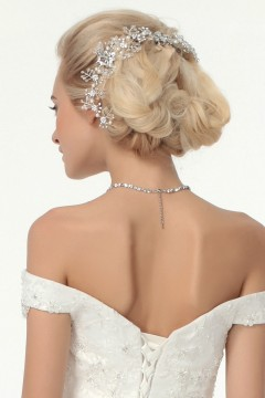 Elegant Rhinestones With Pearl Wedding Headpiece Ajtb0309