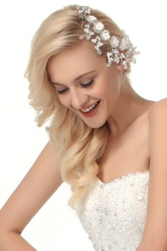 Fashion Pearl With Rhinestone Wedding Headpiece Ajtb0300
