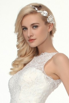 Graceful Rhinestones With Pearl Wedding Headpiece Ajtb0305