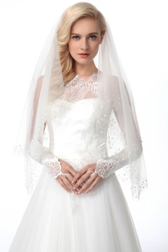 Ivory Waist Length 2 Layer Bridal Veil Ac1284