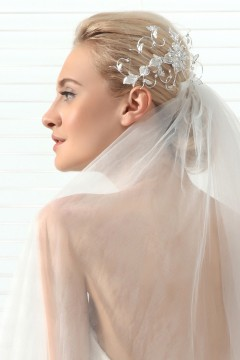 Princess Rhinestones With Pearl Wedding Headpiece Ajtb0312