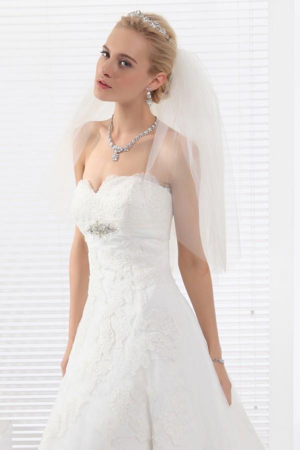 Ivory Elbow Length 4 Layer Bridal Veil Ac1286