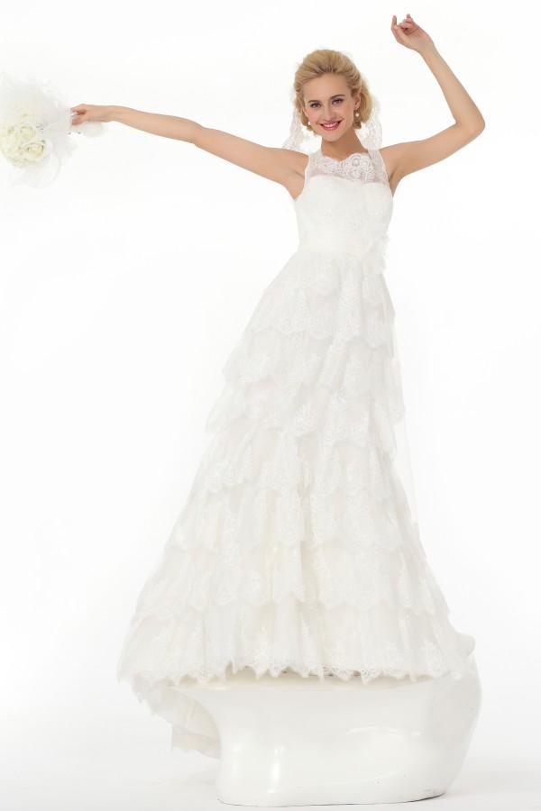 Trumpet Mermaid Tank Top Court Train Lace Wedding Dress Alb12323