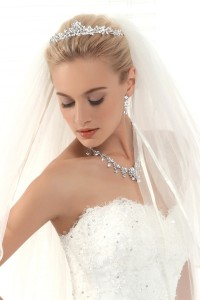 Graceful Wedding Tiara With Rhinestones Ajtb0273