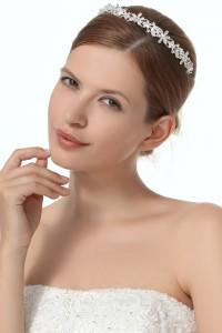 Graceful Wedding Tiara With Rhinestones Ajtb0280