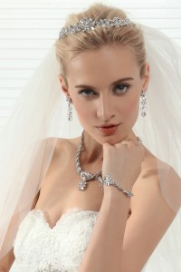Graceful Wedding Tiara With Rhinestones Ajtb0294