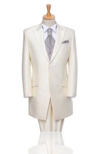White 2 Buttons Notch Lapel Tuxedo Mt00mm0056