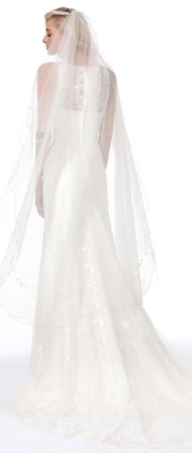 Ivory Chapel Train 1 Layer Bridal Veil Ac1280