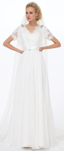 Ivory Chapel Train 2 Layer Bridal Veil Ac1290