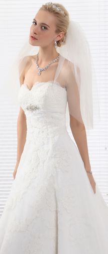 Ivory Elbow Length 4 Layer Bridal Veil Ac1286