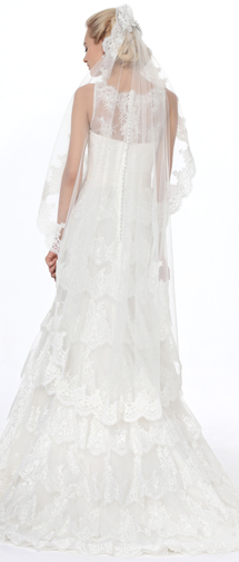 Ivory Floor Length 1 Layer Bridal Veil Ac1285