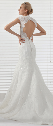 Trumpet Mermaid Straps Chapel Train Lace Wedding Dress Alb12293