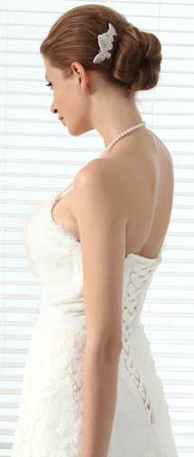 Unique Pearl With Rhinestone Wedding Headpiece Ajtb0299