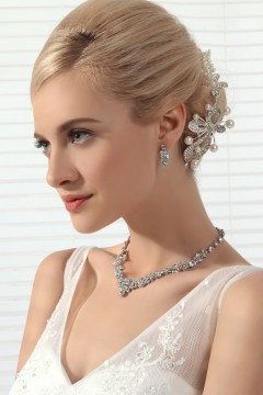 Gorgeous Rhinestones Wedding Necklace And Earrings Jewelry Set Ajtb0262