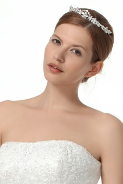 Graceful Wedding Tiara With Rhinestones Ajtb0274