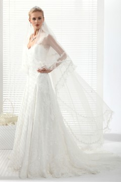 Ivory Chapel Train 1 Layer Bridal Veil Ac1276