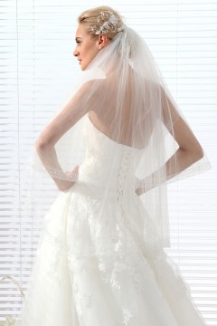 Ivory Waist Length 2 Layer Bridal Veil Ac1281