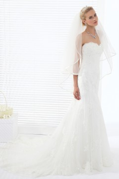 Ivory Waist Length 2 Layer Bridal Veil Ac1289