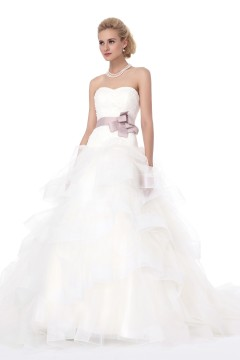 Ball Gown Sweetheart Court Train Tulle Wedding Dress Alb12296