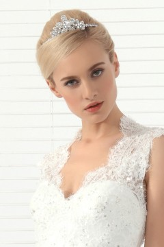 Beautiful Wedding Tiara With Rhinestones Ajtb0287