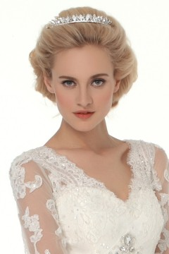 Graceful Wedding Tiara With Rhinestones Ajtb0285