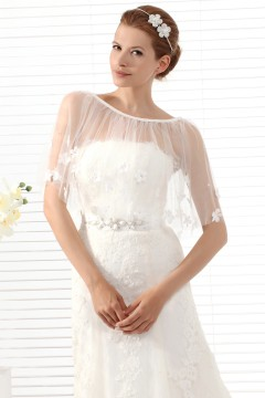 Ivory Half Sleeve Lovely Wedding Wrap Ac5020