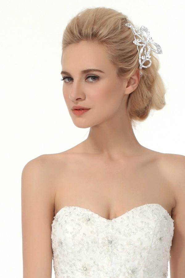 Attractive Wedding Tiara With Rhinestones Ajtb0284