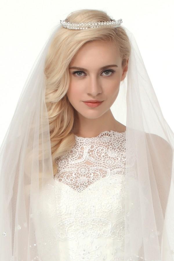 Graceful Wedding Tiara With Rhinestones Ajtb0266