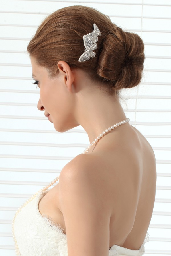 Unique Pearl With Rhinestone Wedding Headpiece Ajtb0299