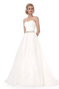 A Line Sweetheart Court Train Lace Wedding Dress Alb12295