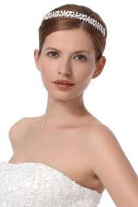 Graceful Wedding Tiara With Rhinestones Ajtb0281