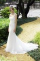 Trumpet Mermaid Square Lace Ivory Sleeveless Wedding Dress with Beading and Sequin AWZT15005