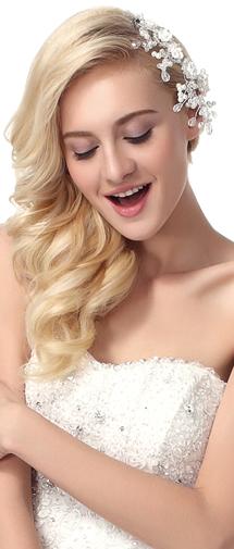 Fashion Pearl With Rhinestone Wedding Headpiece Ajtb0300