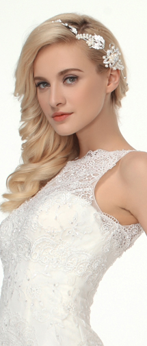 Graceful Rhinestones With Pearl Wedding Headpiece Ajtb0305