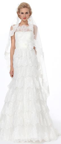 Ivory Floor Length 1 Layer Bridal Veil Ac1285