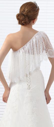 Ivory Half Sleeve Lace Wedding Wrap Ac5018