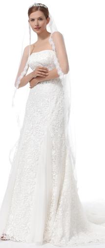 Ivory Tea Length 1 Layer Bridal Veil Ac1288