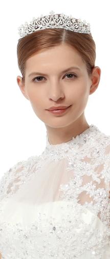 Sparkling Wedding Tiara With Rhinestones Ajtb0272