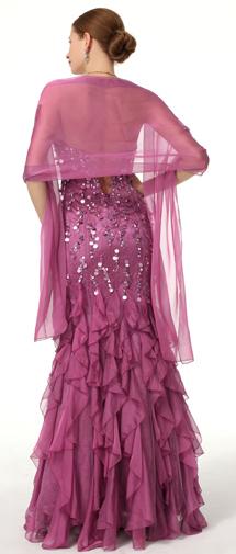 Trumpet Mermaid Sweetheart Floor Length Chiffon Purple Evening Dress F12085