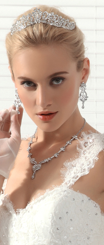 Unique Rhinestones Wedding Necklace And Earrings Jewelry Set Ajtb0260
